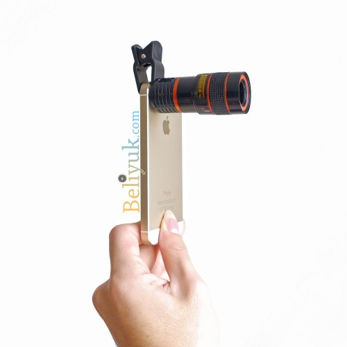 Telephoto 8x Zoom with Clip Jepit for All Smartphone