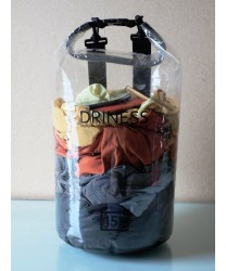 Driness Dry Tube 15 Liter Waterproof Transparent Dry Bag