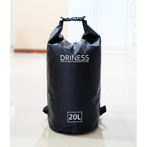 Driness Backpack 20 Liter Hitam Waterproof Dry Bag Ransel Original