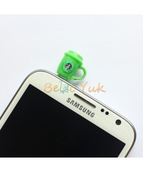 Starbucks Frapucinno Ear Cap Plug 35 mm for All Smartphone